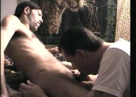 Eating Cum Off Straight Black Cock