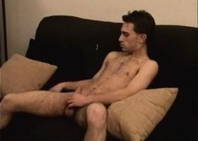 Straight Boy Paulie Stroking His Meat