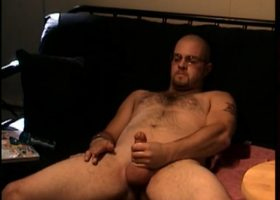 Straight Caleb Stroking Cock