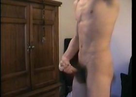 Straight Boy Cory Strokes Off