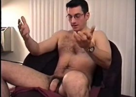 Straight Gianni Strokes His Meat