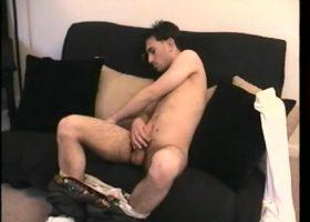 Straight Boy Paulie Beats His Meat