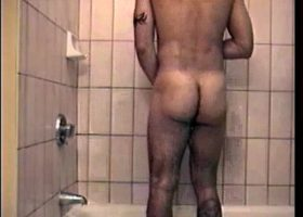 Straight Boy Zack Shower Stroking