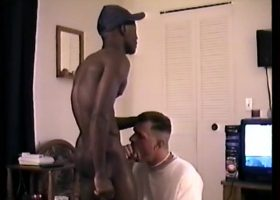 Sucking Str8 Black Jock Cock