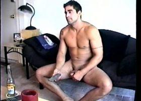 Stroking Straight Roommate Zack