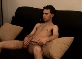 Straight Boy Paulie Stroking His Cock